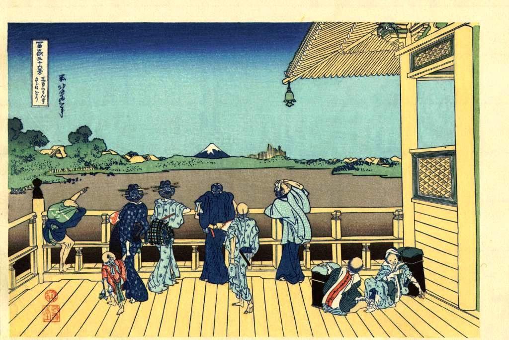 Hokusai_Fuji36_Terrasse_Sazai_