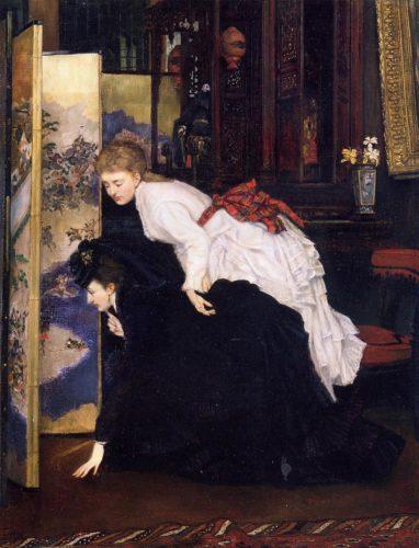 James-Tissot-Jeunes-femmes-regardant-des-objets-japonais