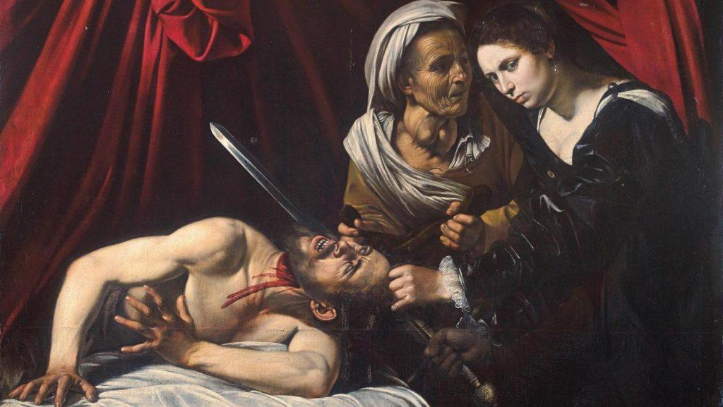 Judith-tranchant-la tête-d-Holopherne-le-caravage