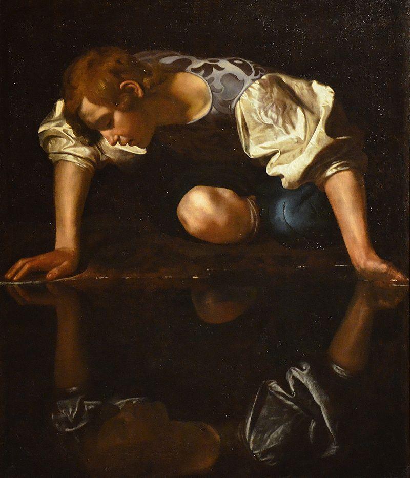 Narcisse-Le-Caravage-1597-1599