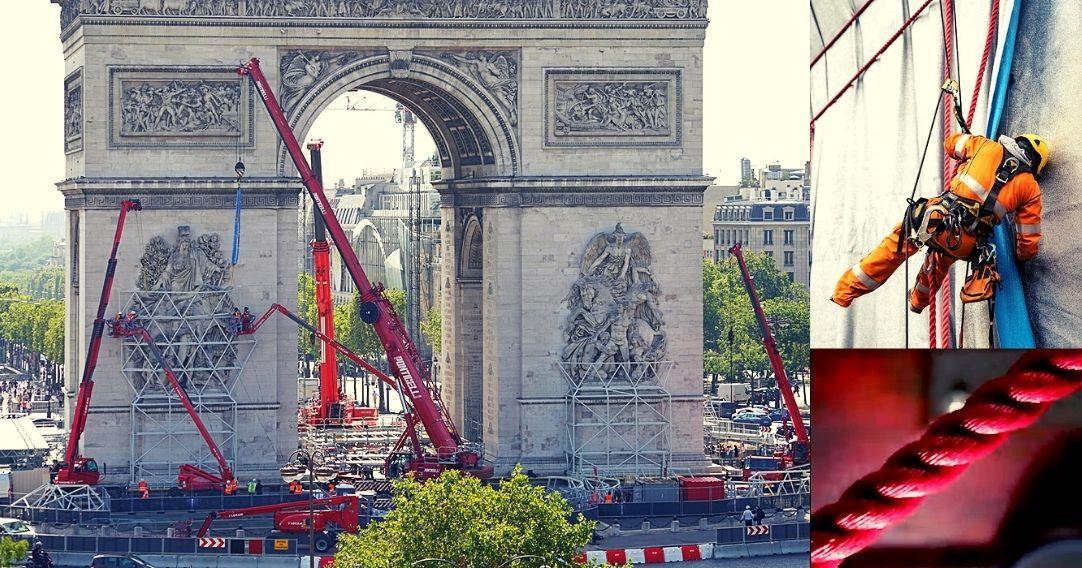 [Balade] L'empaquetage de l'Arc de Triomphe
